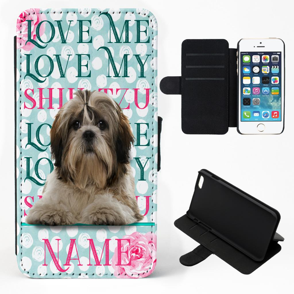 wholesale dealer 60600 9d11a Details about Personalised iPhone Case SHIH TZU DOG Flip Phone Cover Pretty  Pet Gift KP37