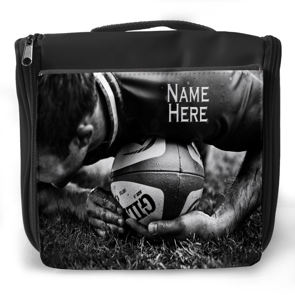 latest discount retail prices most popular Details about Personalised Wash Bag RUGBY BALL PLAYER Hanging Toiletry  Travel Gym Gift ST476