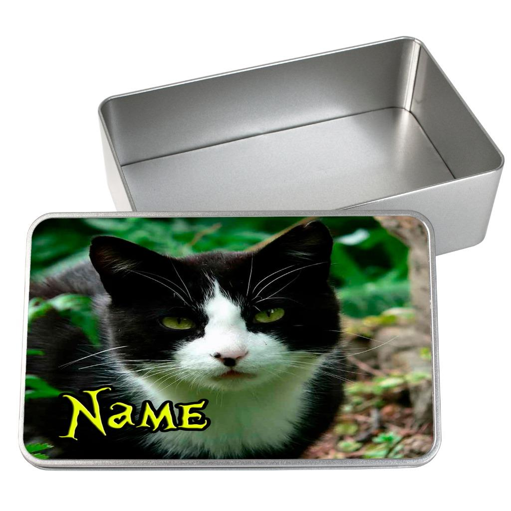 Details about Personalised Pet Food Storage Tin KITTEN CAT Animal Food  Container Box ST809