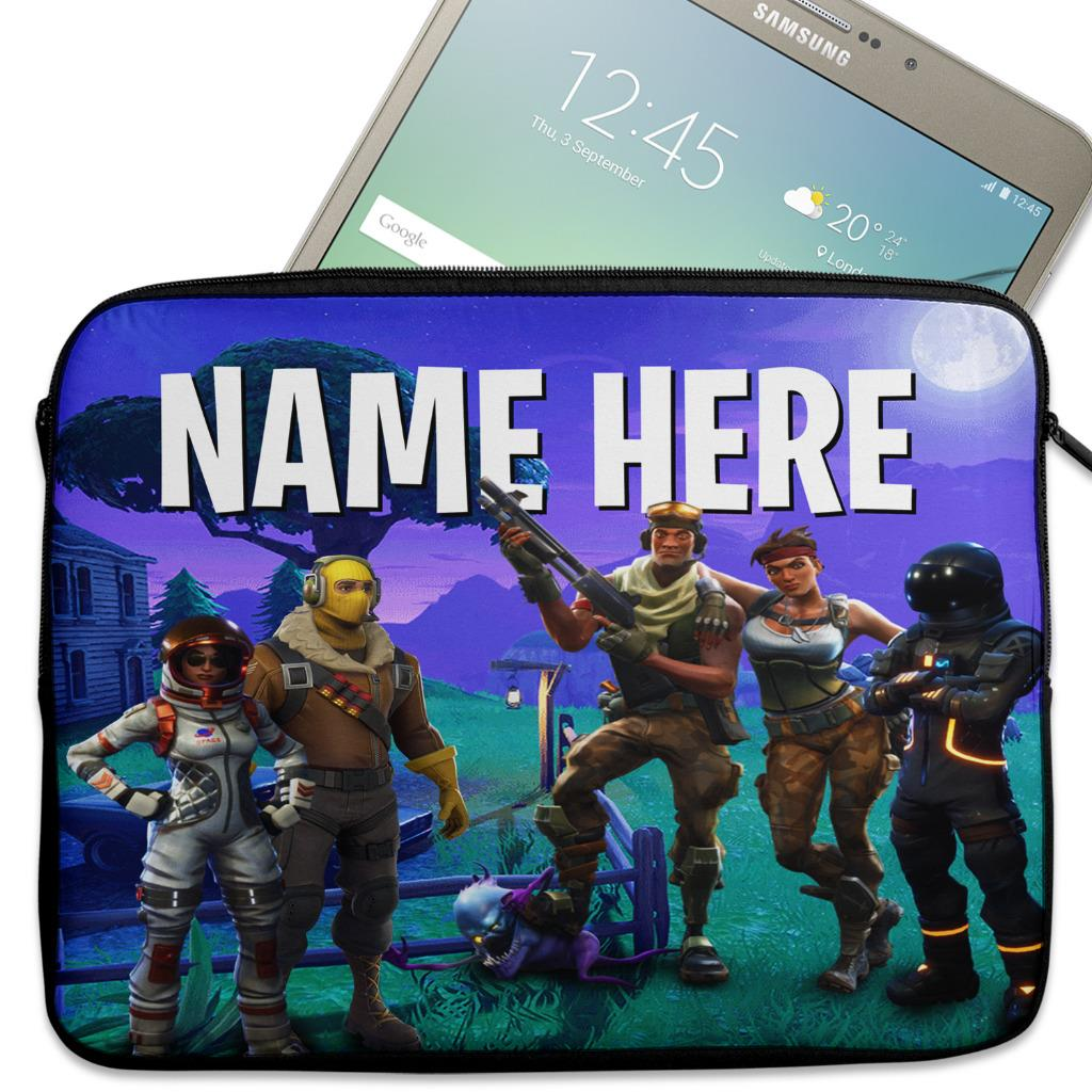outlet store 13690 94e3a Details about Personalised Tablet Case FORTNITE Neoprene Sleeve Cover 7