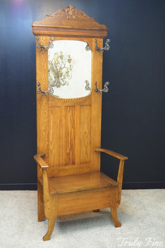 products rack hall furniture antique restored hat jacobean stand betel