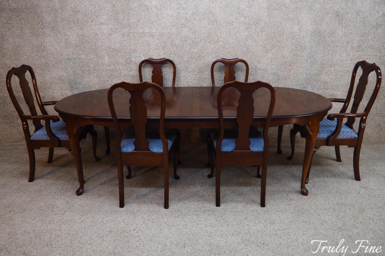 Gentil PENNSYLVANIA HOUSE Solid Cherry Dining Table 6 Chairs 2 Leaves American Made