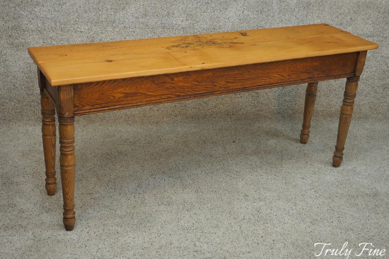 Reclaimed Wood Crafted Farmhouse Sofa Console Foyer Entryway Table Desk
