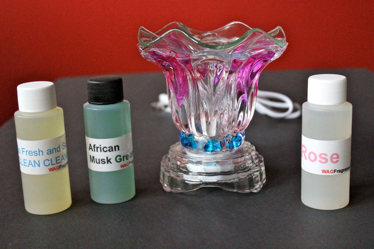 Electric Fragrance Diffuser Lamp Oil Burner 3 Fragrance