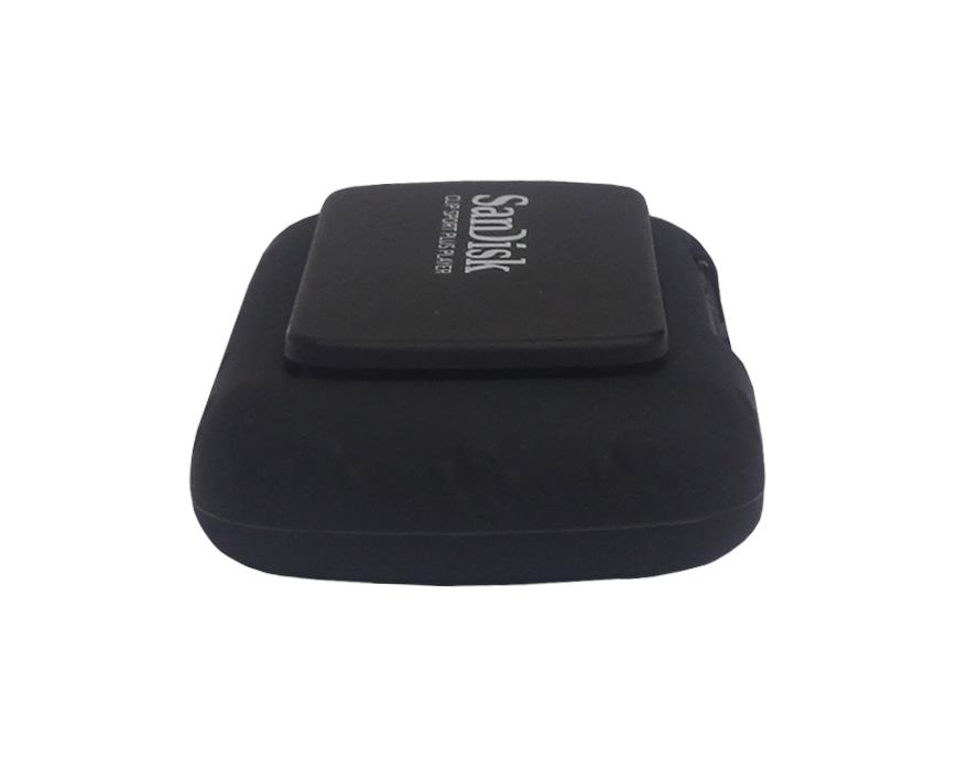for sandisk sansa clip sport plus sdmx28 soft rubber skin cover case black ebay. Black Bedroom Furniture Sets. Home Design Ideas