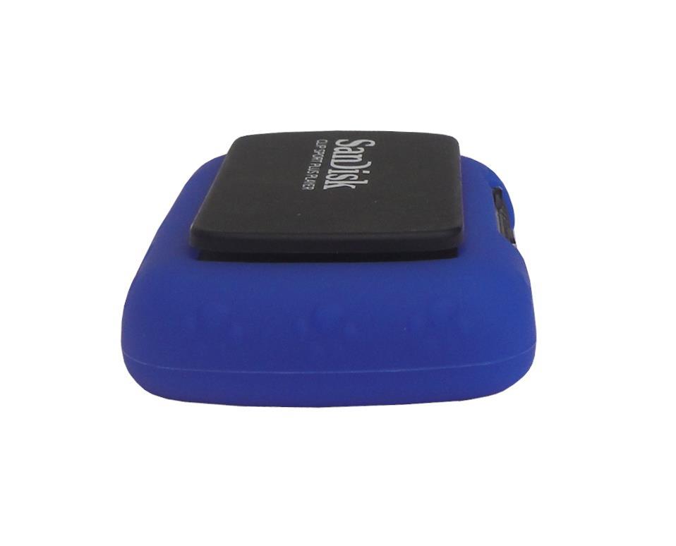 for sandisk sansa clip sport plus sdmx28 soft rubber skin cover case navy blue 847564056995 ebay. Black Bedroom Furniture Sets. Home Design Ideas
