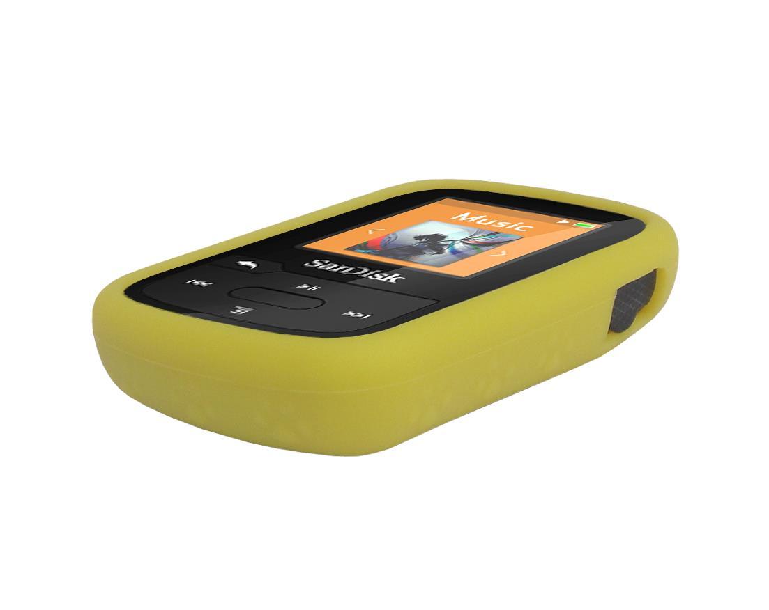 black charger cable yellow skin case for sandisk sansa clip sport plus sdmx28 ebay. Black Bedroom Furniture Sets. Home Design Ideas