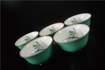 Z8327: Japanese Arita-ware Flower Pattern TEA CUP ...