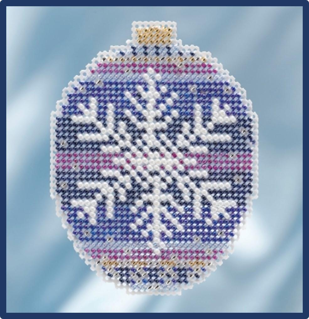 MILL-HILL-Beaded-Holiday-Ornament-Kits-Buy-1-or-All-6-Snowman-Poinsettia thumbnail 6