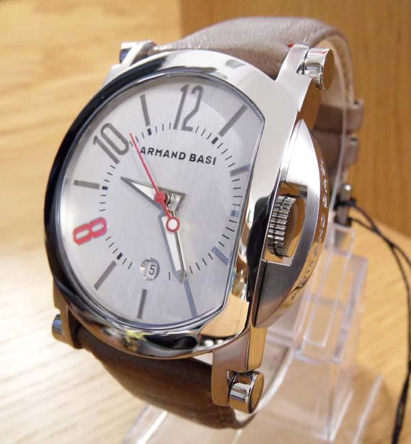Mens Rare Retro Brown Eclipse Style Armand Basi Leather Gents Designer Watch Ebay