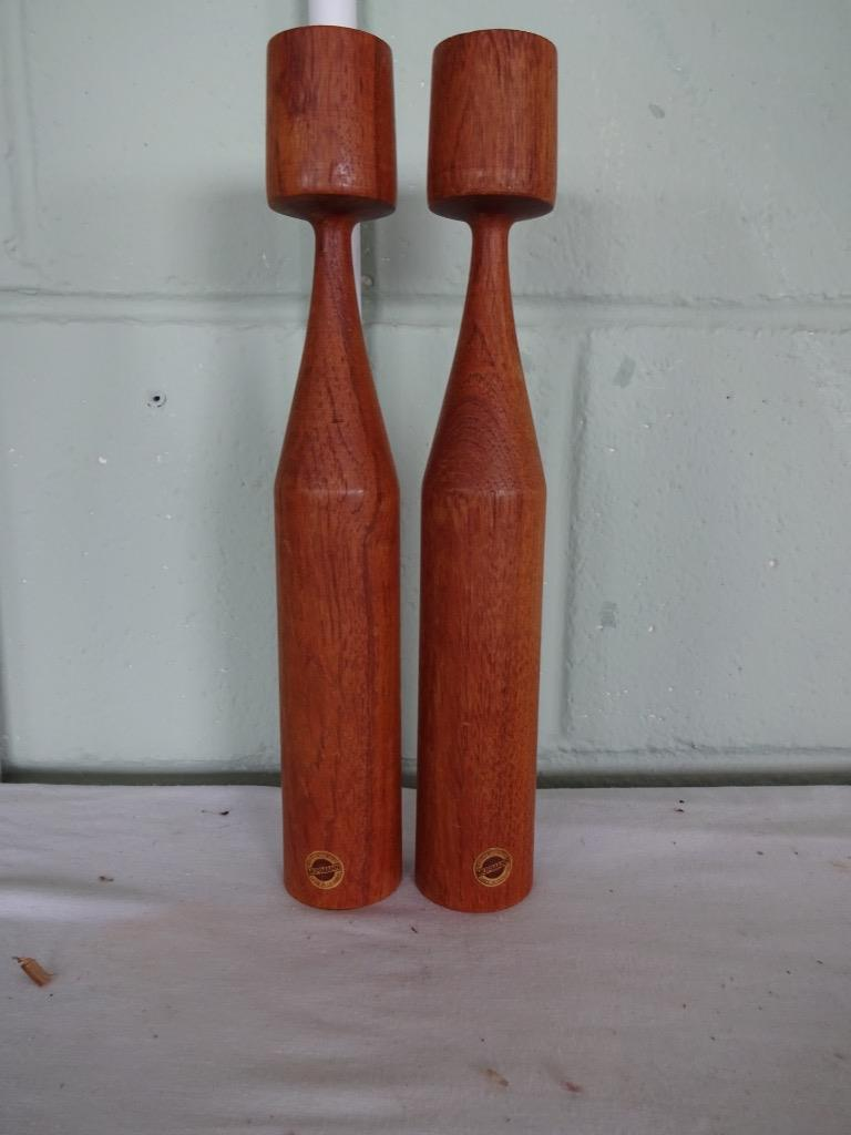 vintage retro teak Wood Danish Candlesticks by Murmann 29cm  high society series - <span itemprop=availableAtOrFrom>MOLD, United Kingdom</span> - I WILL ACCEPT RETURNS ON AN ITEMS THAT HAVE BEEN MISDESCRIBED Most purchases from business sellers are protected by the Consumer Contract Regulations 2013 which give you the right to cancel  - MOLD, United Kingdom