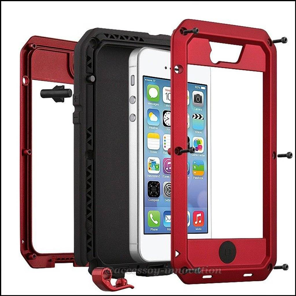 5s iphone case tempered aluminum gorilla glass metal for iphone 4 4s 10014
