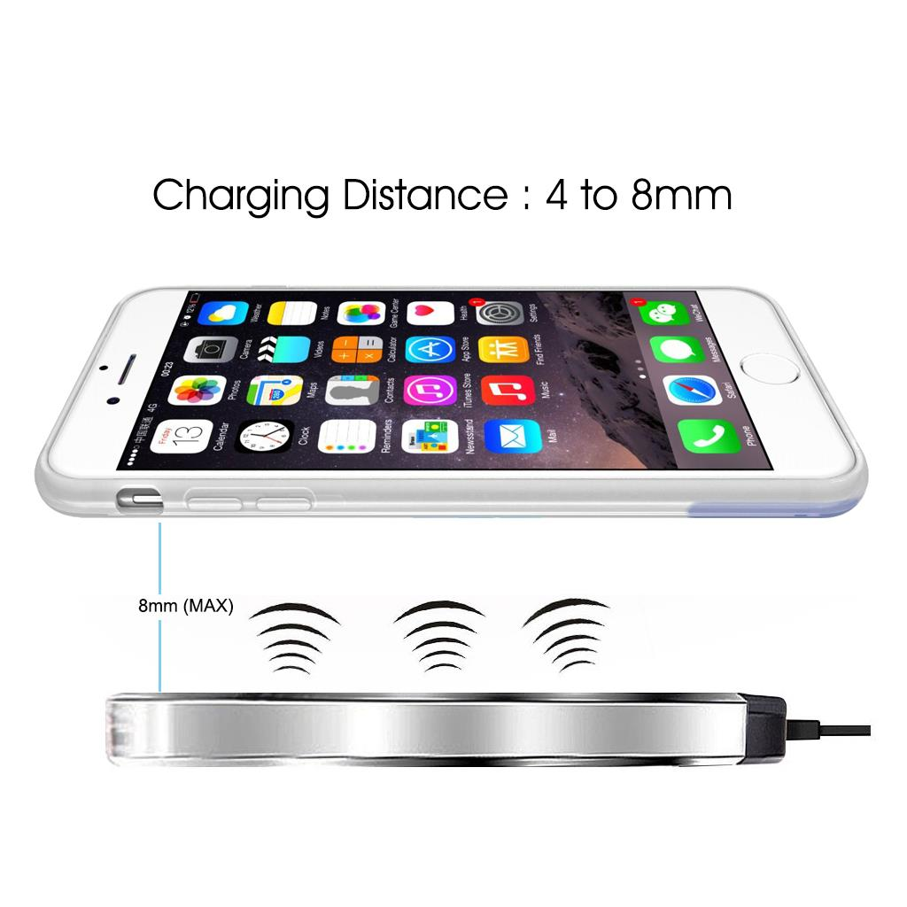 for iphone 7 6 6s 7 plus qi wireless charging charger pad receive case cover nw ebay. Black Bedroom Furniture Sets. Home Design Ideas