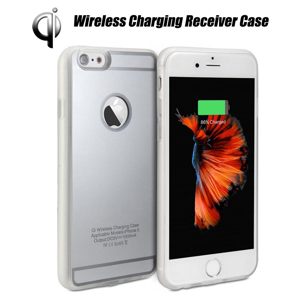 new qi standard wireless charging receiver back case cover fr iphone 7 6 6s plus ebay. Black Bedroom Furniture Sets. Home Design Ideas