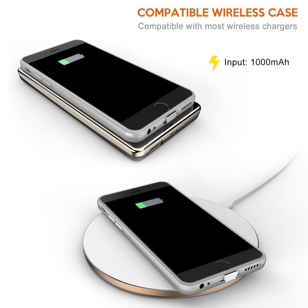 qi wireless charging receiver skin slim back case cover for iphone 6 6s plus ebay. Black Bedroom Furniture Sets. Home Design Ideas
