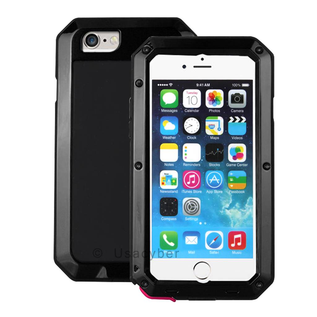 waterproof case for iphone 5s waterproof shockproof aluminum glass metal cover for 3438