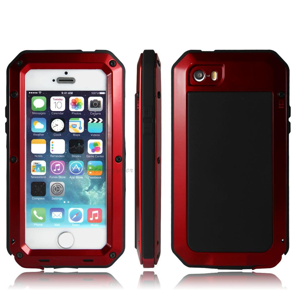 waterproof cases for iphone 5s waterproof shockproof aluminum metal glass cover 18177