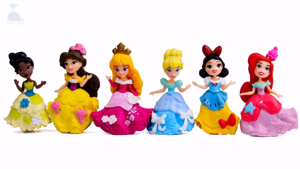 Disney Cartoon Princess Cake Toppers Dolls Resin Character Figures Toy Miniature