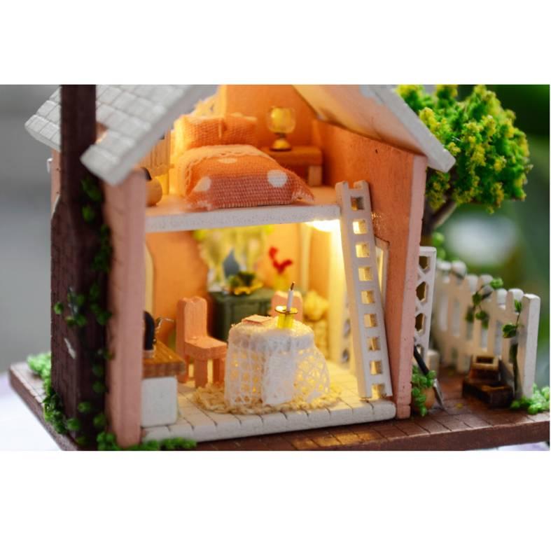 Diy handwerk projekt set holz puppenhaus alice 39 s magic - Puppenhaus beleuchtung set ...