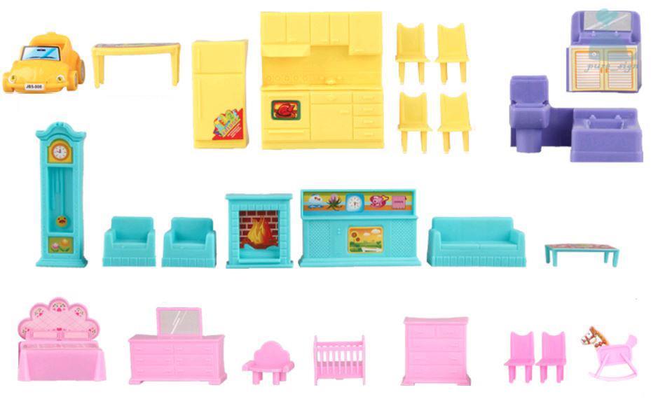 kidcraft einfach montage puppenhaus prinzessin 39 pink kleine villa mit m bel ebay. Black Bedroom Furniture Sets. Home Design Ideas