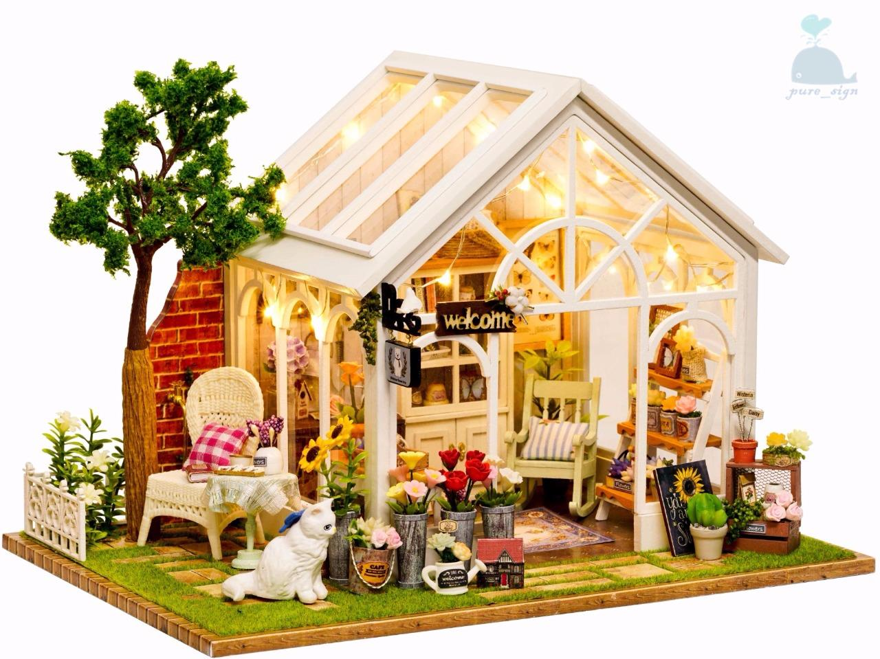 Piccole Serre Da Casa dettagli su fai da te artigianato miniatura di legno progetto my secret  piccolo serra