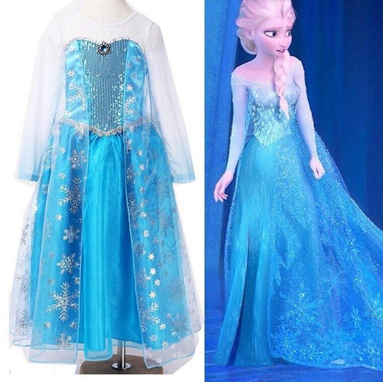 robe d guisement costume la reine des neiges frozen elsa anna enfant fille jupe ebay. Black Bedroom Furniture Sets. Home Design Ideas