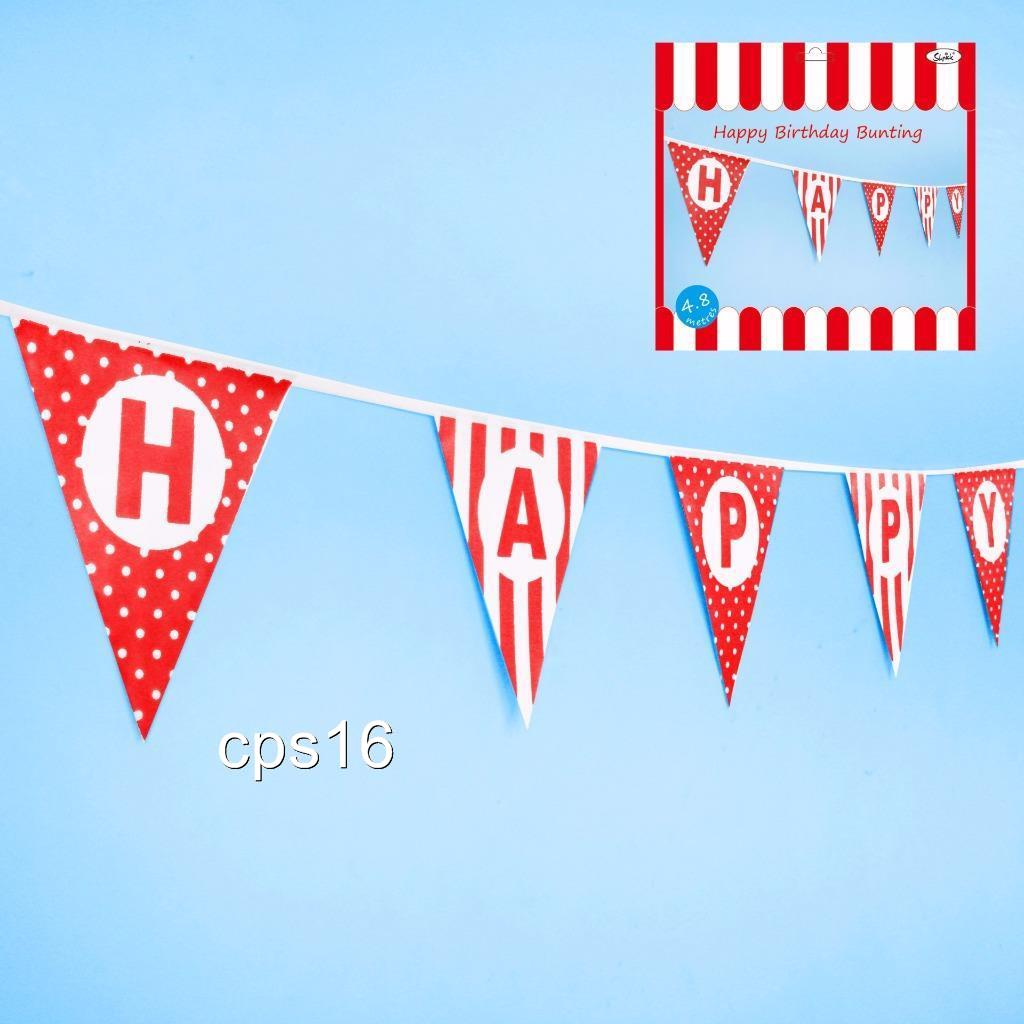 Circus...Carnival...4.8 Metre Happy Birthday Red Triangle