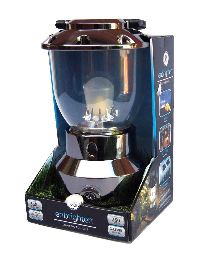 ge outdoor camping enbrighten led lantern 350 lumens 360 50ft 350 hours ebay. Black Bedroom Furniture Sets. Home Design Ideas
