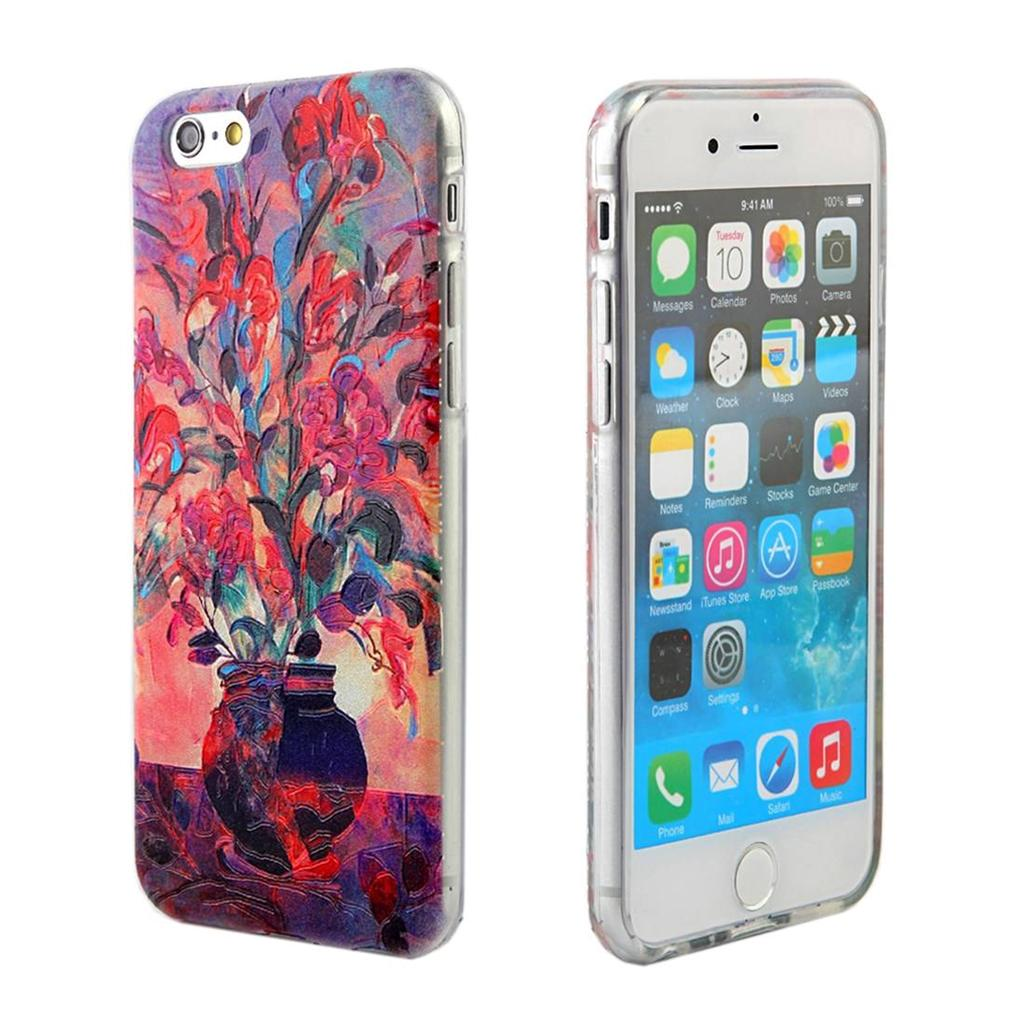 iphone printer case for apple iphone 6 6s canvas textured print tpu 5234