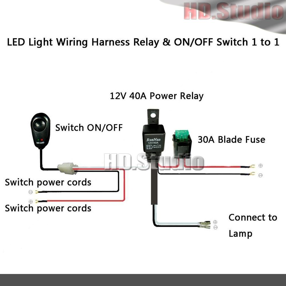 12v Led Light Bar Wiring Diagram Another Blog About Nilight Harness 40a Kit Fuse Relay