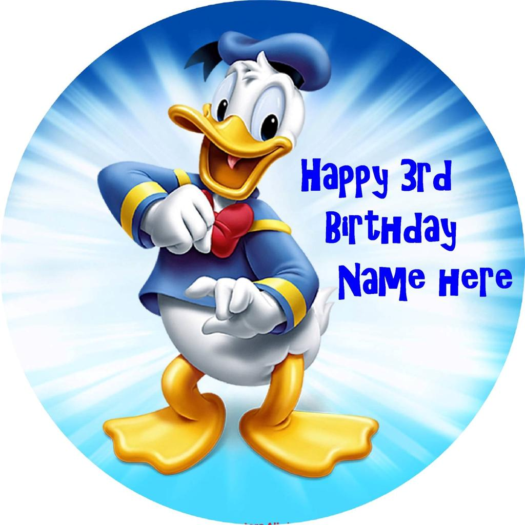 donald duck wedding cake topper donald duck edible icing cake toppers view 2 images 13701