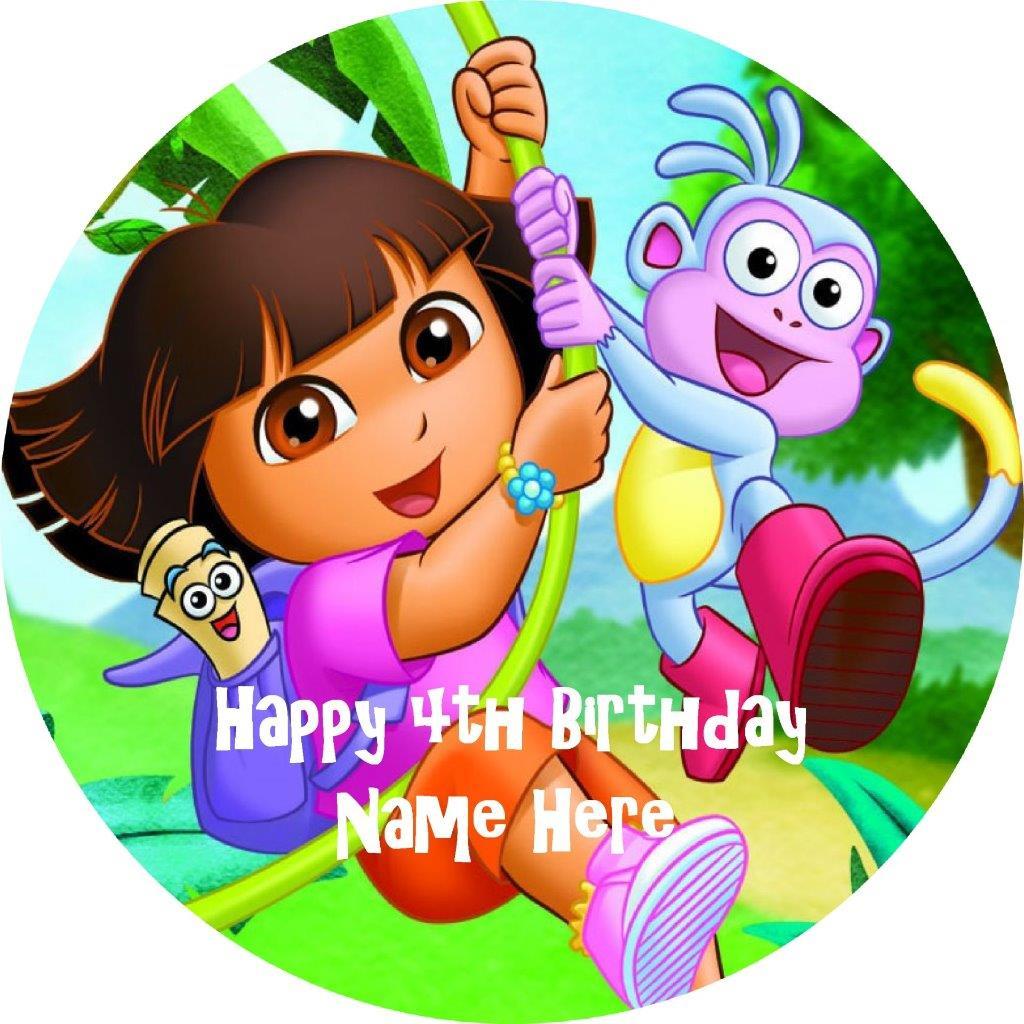 Dora The Explorer Cake Topper Edible Image