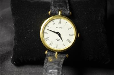 9631280ba81 Rare Gucci 2000M Men s Women s Stack Watch with Green Red Enamel Case Gold  Case