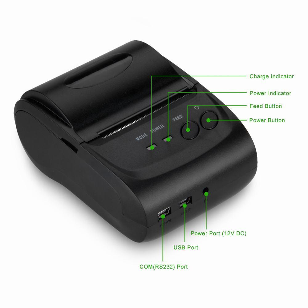 bluetooth pos imprimante ticket thermique thermal receipt printer wireless 58mm ebay. Black Bedroom Furniture Sets. Home Design Ideas