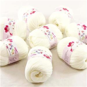 Sale New 8Ballsx50g Soft Cashmere Silk Velvet Baby Hand Knitting Crochet Yarn 01