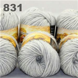 Lot 8ballsx50g Soft Chunky Colorful Hand Knitting Shawl Scarf Wrap Wool Yarn 831