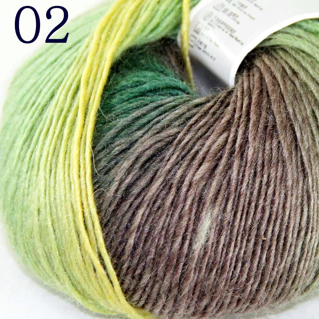 2Ballsx50g Rainbow Cashmere Wool Soft Baby Hand Shawl ...