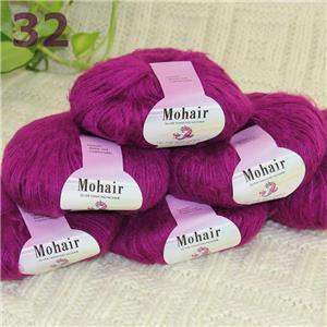 Sale 1SkeinsX25gr Soft Lace Crochet Acrylic Wool Mohair Wrap Hand Knit Yarn 33