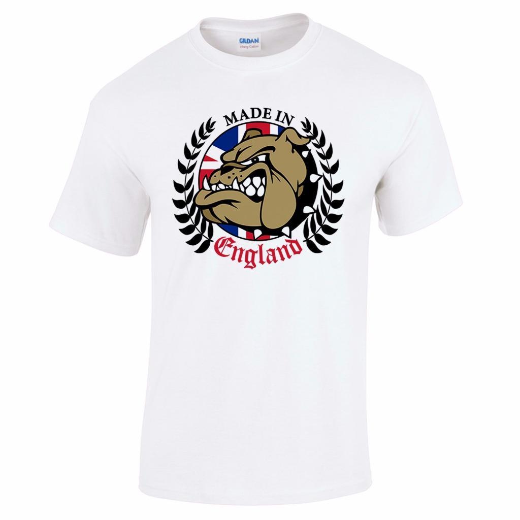 Made In England British Bulldog Football Holiday Mens T Shirt  2 39adb2e0b4e