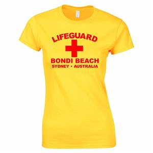 Description  sc 1 st  eBay & Lifeguard Bondi Beach Sydney Australia Surfer Fancy Dress Womens T ...