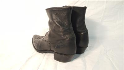 50c2cdc6f55dc Mens Black Vintage SZ 12 Beatle Mod Hipster Ankle Zip Boots Pre-owned.  Fantastic condition