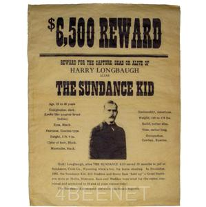 2 WESTERN WANTED POSTERS - replicas - Butch Cassidy & The ...