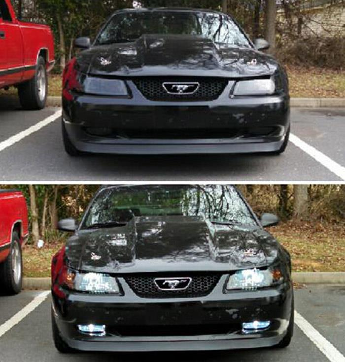 1999 2004 Ford Mustang V6 Gt Clear Fog Lights Replacement