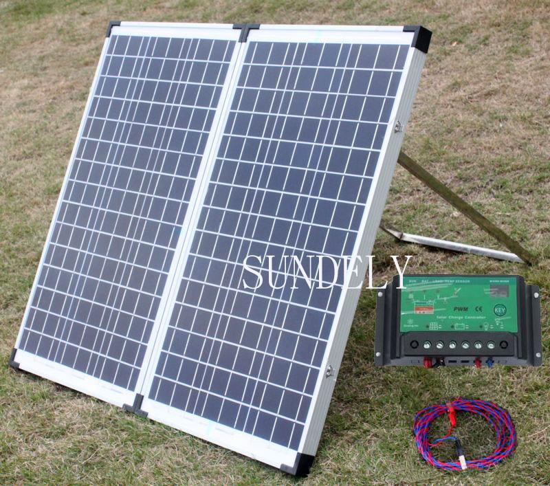 150w portable mono folding solar panel kit 12v battery. Black Bedroom Furniture Sets. Home Design Ideas