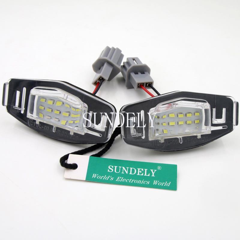 2x LED LICENSE PLATE LIGHT For Acura TL TSX MDX Honda