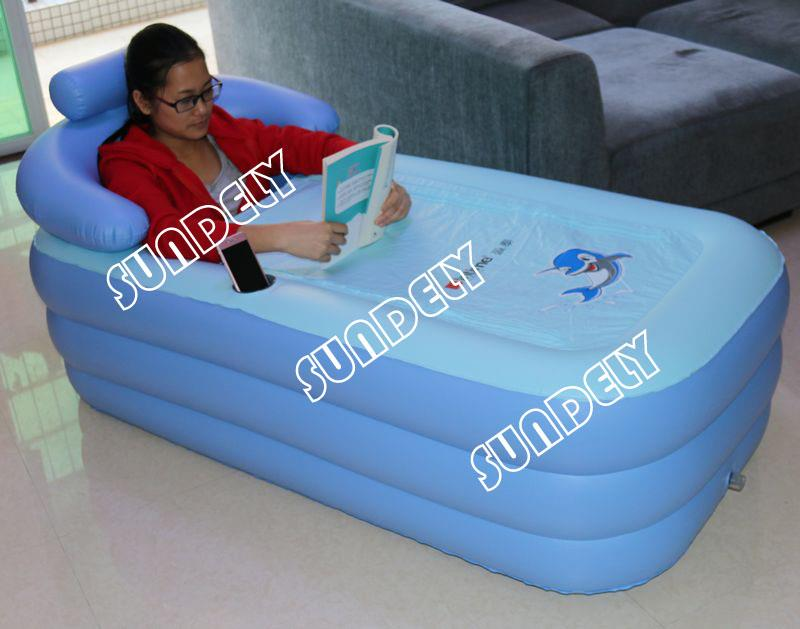 Secuda Adult Folding Portable SPA Bathtub PVC Warm Inflatable Bath ...