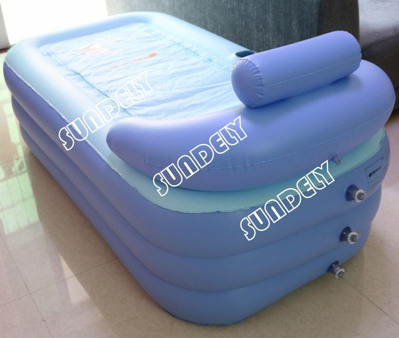 SUNDELY Adult SPA Inflatable Tub Keep Warm Folding Bathtub with Air ...