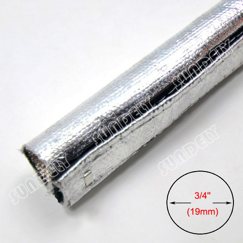 Metallic Heat Shield Sleeve Insulated Wire Hose Cover Wrap