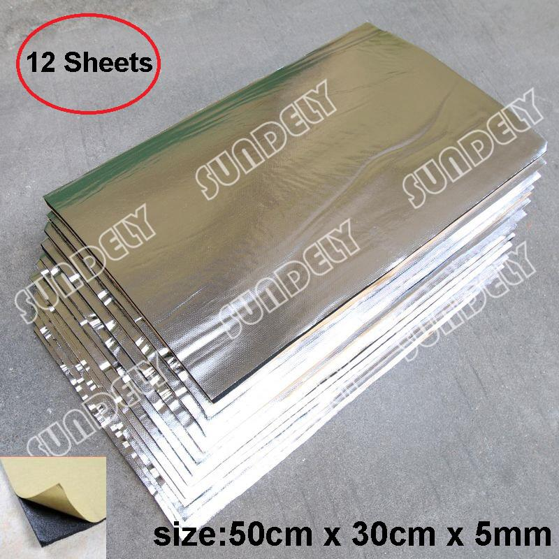 12x Glass Fibre Car Engine Bay Bonnet Insulation Noise