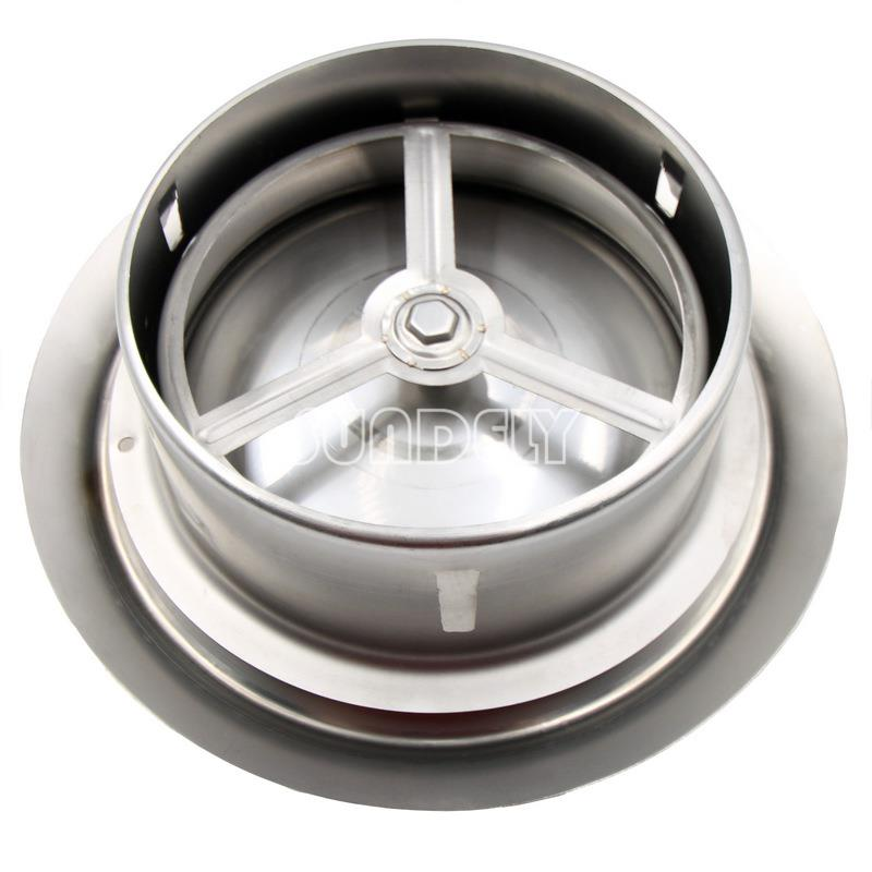 Stainless Steel Bathroom Ceiling Air Vent Round Metal Wall